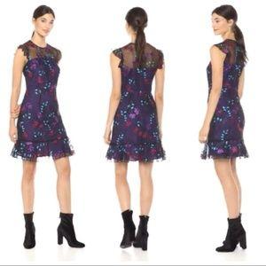 Donna Morgan 12 Purple Embroidered Sheath Dress